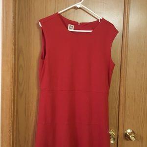 Anne Klein little red knit dress